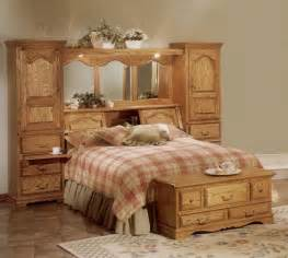 details about cedar lined oak wood mirrored bed
