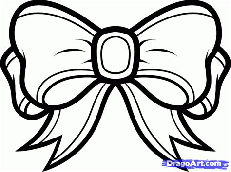 girl bow coloring page how to draw a christmas ribbon step by step christmas