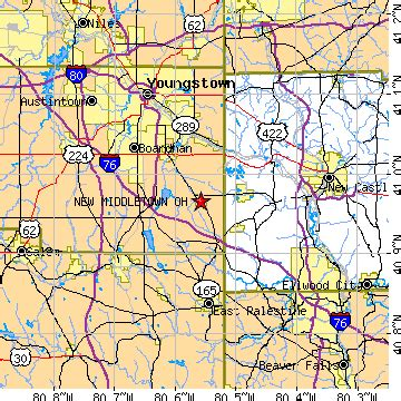 map of middletown ohio new middletown ohio oh population data races