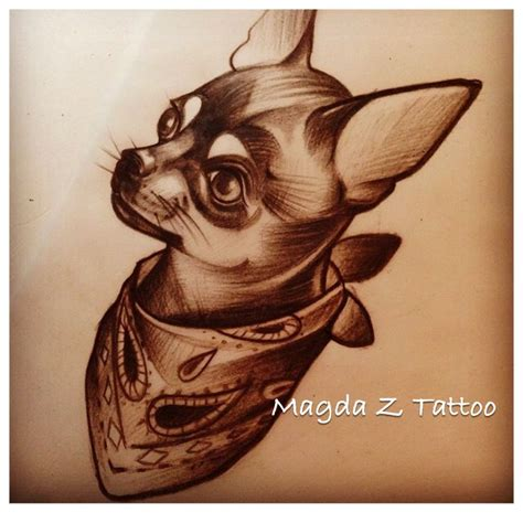 chihuahua tattoo design tattoos pinterest