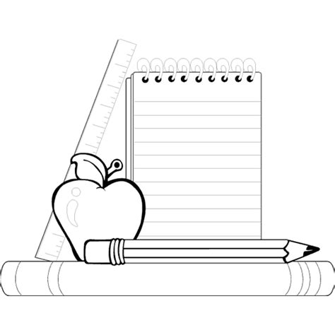 coloring page school supplies kids coloring page gallery