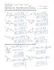 Trigonometric Ratios Worksheet Answers by Trig Ratios With Answers