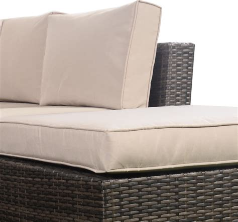 outdoor rattan sofa sets giantex 4pc wicker rattan outdoor sectional sofa set