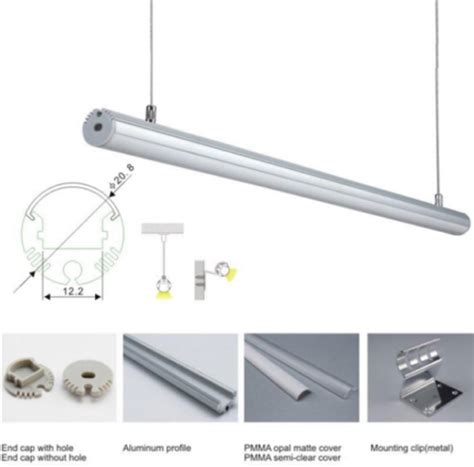 Suspension Install Led Aluminum Profile For Led Strip Rigid Led Light Bar Installation