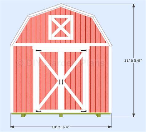 gambrel shed plans  loft diygardenplans