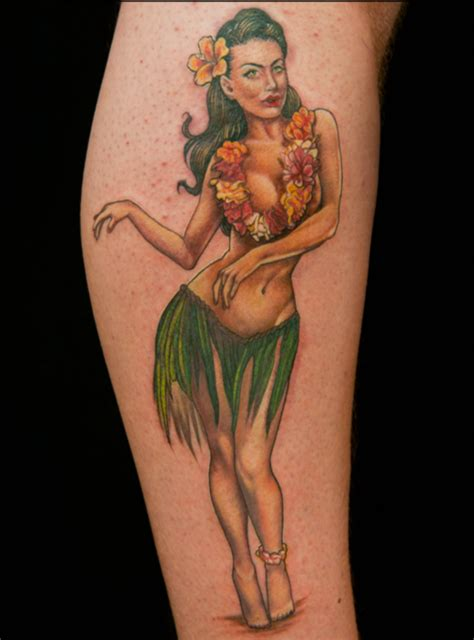 pin up name tattoo ideas hula pin up girl tattoo sarah miller the best pin up