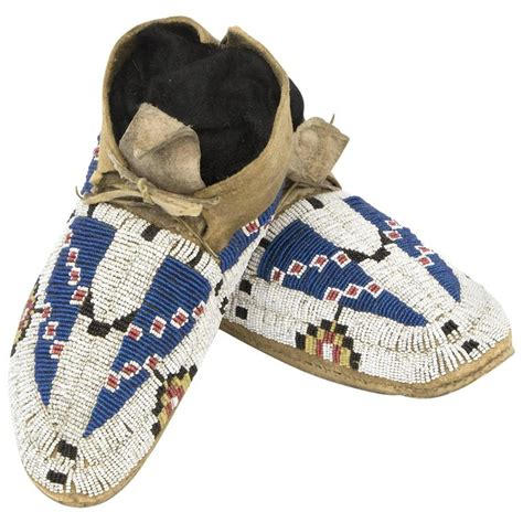 beaded moccasins for sale antique american beaded child s moccasins cheyenne