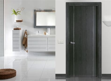 flush doors contemporary bathroom other metro by