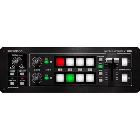 Roland V 1hd Portable 4 X Hdmi Input Switcher roland v 1hd portable compact hd switcher v1hd hdmi input effects mint