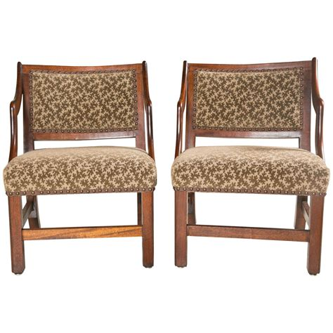 Handmade American Furniture - pair of handmade american grog chairs newly upholstered at