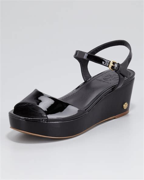 sandals at lyst burch abena flatform wedge sandal in black