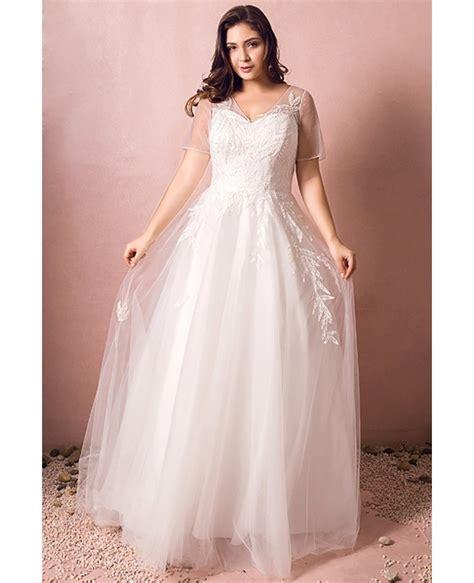 beach wedding dresses plus simple modest plus size beach wedding dress illusion