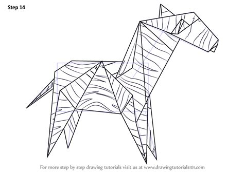 How To Make A Origami Zebra - step by step how to draw an origami zebra