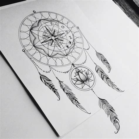 tattoo compass dreamcatcher dream catcher my inspiration tattoo dreamcatcher lotus