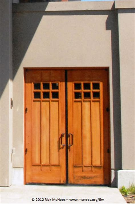 Wright Door by Prairie School Architecture Photo Gallery By Rick Mcnees