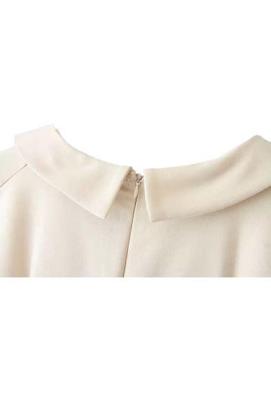 Sleeveless Plain Sheath Dress v neck lapel style sleeveless sheath plain dress