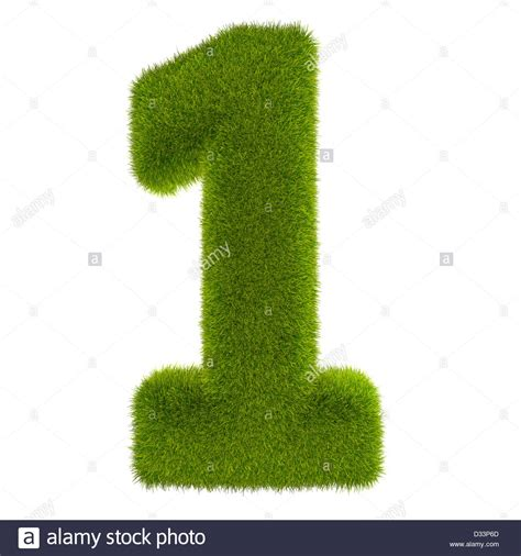V Green V02 1 3d render of number 1 covered in lush green grass isolated on a stock photo royalty free image