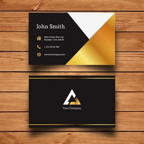 golden ratio business card template golden business card template vector free