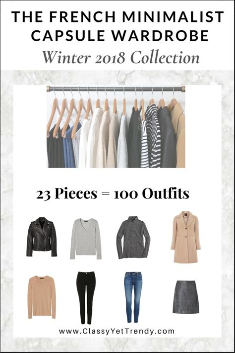 minimalist capsule wardrobe the french minimalist capsule wardrobe winter 2018