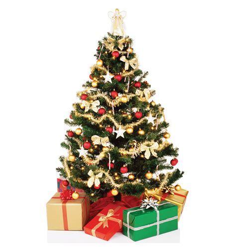 Christmas tree cardboard cutouts and standups