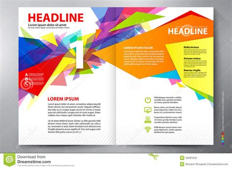 brochure template for pages brochure design two pages a4 vector template stock vector
