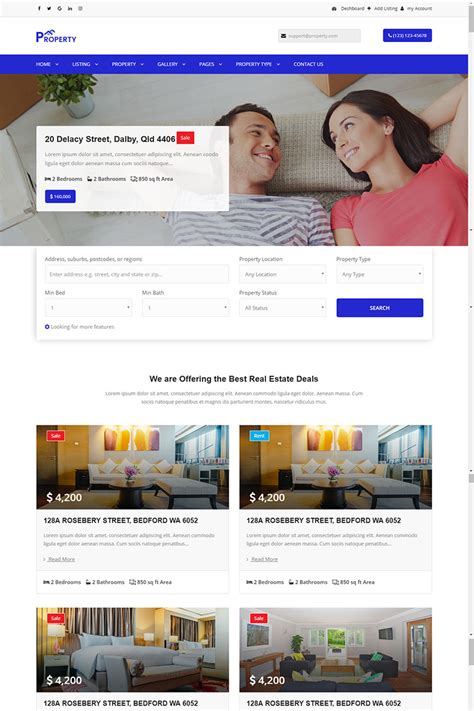 property listing website template property property listing and single property website