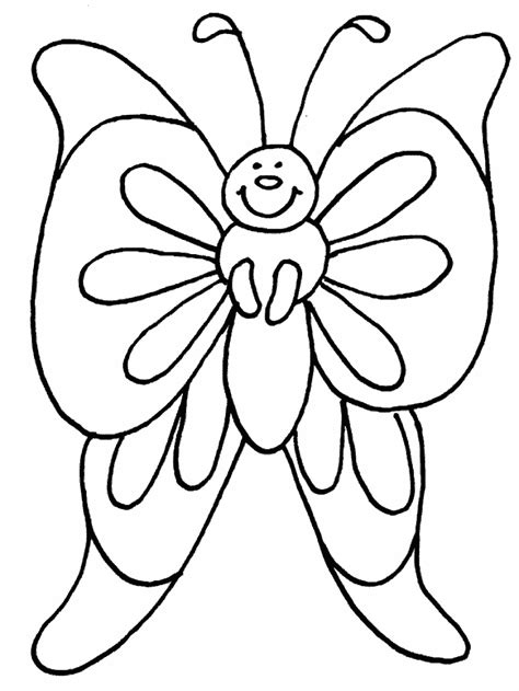 free coloring pages of simple butterfly