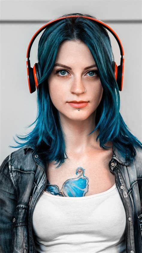 tattoo girl wallpaper iphone tattoo girl with headphones iphone wallpaper iphone
