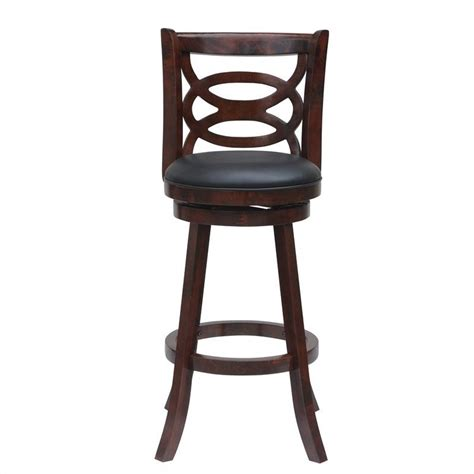 Cherry Finish Counter Stools by 24 Quot Swivel Counter Stool In Cherry Finish 61924
