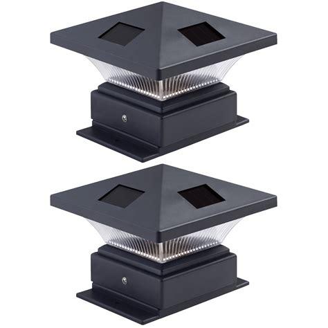 2 Pack Westinghouse Pagoda Black Solar 4x4 Post Cap Solar Post Cap Lights 4x4