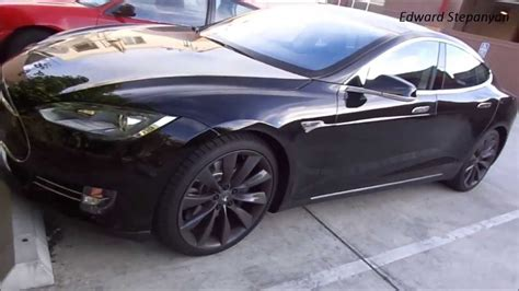 Tesla Model S Blacked Out Amazing Blacked Out Tesla Model S 2013 Electric Car
