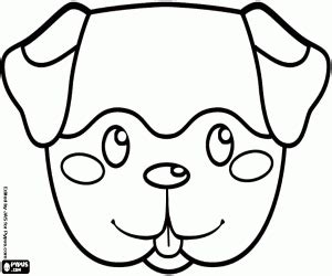 a terrier puppy mask coloring page printable game