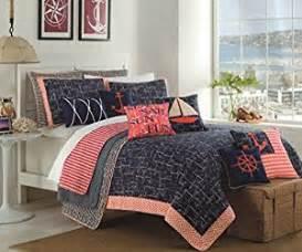 design studio home collection bedding amazon com max studio nautical design bedspread 3pc full
