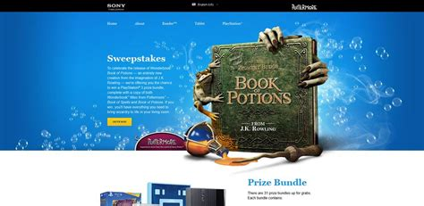 Sweepstakes Unlimited - wonderbook sweepstakes