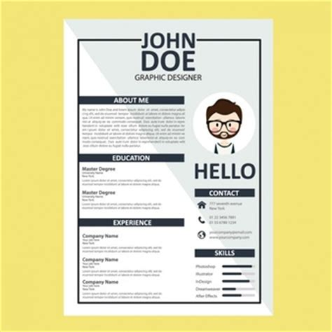 curriculum vitae design template curriculum vitae vectors photos and psd files free