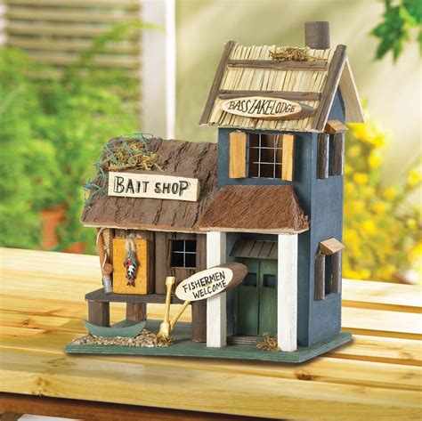 wholesale barber shop birdhouse birdhouses home wholesale wooden bait shop fishing theme birdhouse
