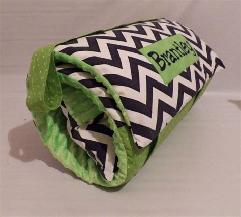 Nap Pad With Attached Pillow by Lime Green Chevy Thick Nap Mat With Attached Minky Blanket