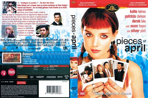 three pieces of april jaquette dvd de pieces of april cin 233 ma