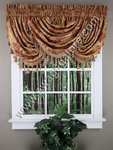 luxury home textiles curtains reagan waterfall jacquard valance sage luxury home