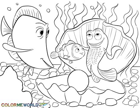 nemo meets bubbles and gurgle pdf printable coloring page