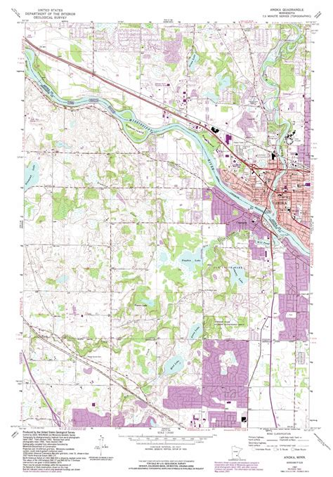 minnesota topographic map anoka topographic map mn usgs topo 45093b4