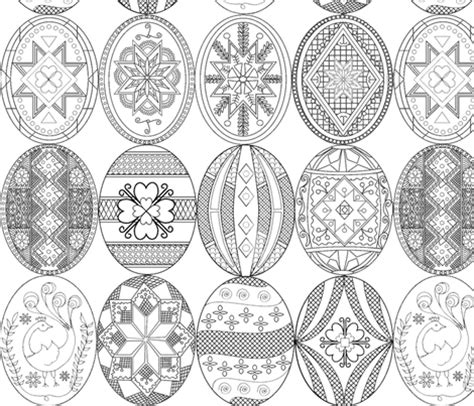 repetitive patterns coloring book inspired by ukrainian easter egg pysanky motifs for leisure rest recreation volume 1 books pysanky easter eggs larger version different designs