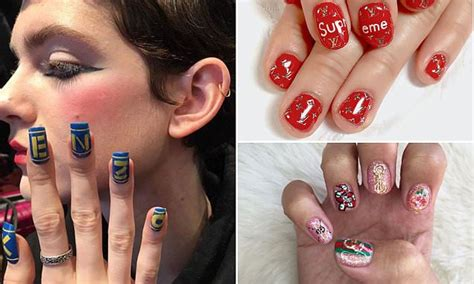latest nail craze logo nail art is the latest manicure craze daily mail online