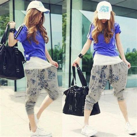 harem pants asian fashion easternserenitycom korean fashion women s casual loose harem baggy hip hop