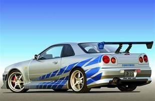 Nissan Skyline 2 Fast 2 Furious Nissan Skyline R34 Gt R 2 Fast 2 Furious Fast Speedy Cars