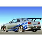 Nissan Skyline R34 GT R  2 Fast Furious Speedy Cars