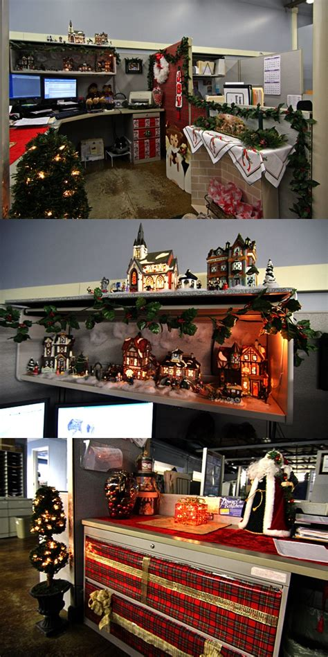 pictures of christmas decorated cubicles joy studio