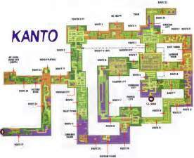 Kanto World Map by Map Quest Pok 233 Mon Red And Blue 1 More Castle
