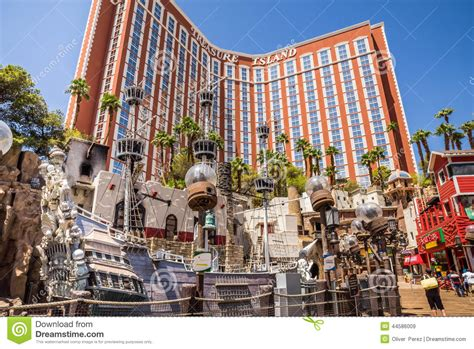 pirate themed hotel vegas treasure island hotel and casino pirate ship editorial