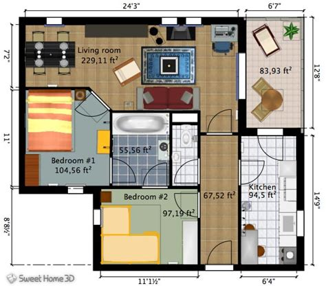 Sweet Home Floor Plan by Sweet Home 3d Decorate Your Home Using Windows Mac Or